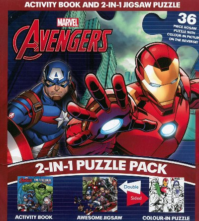 2-IN-1 JIGSAW  DAN  ACTIVITY: MARVEL AVENGERSen