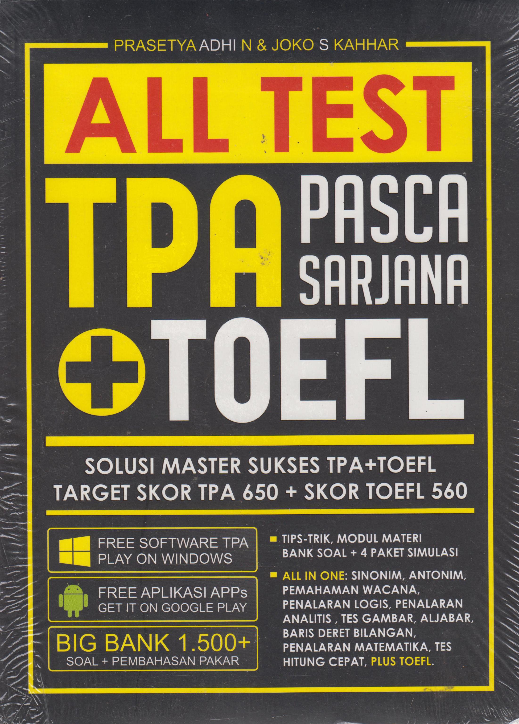 ALL TEST TPA PASCA SARJANA + TOEFL en