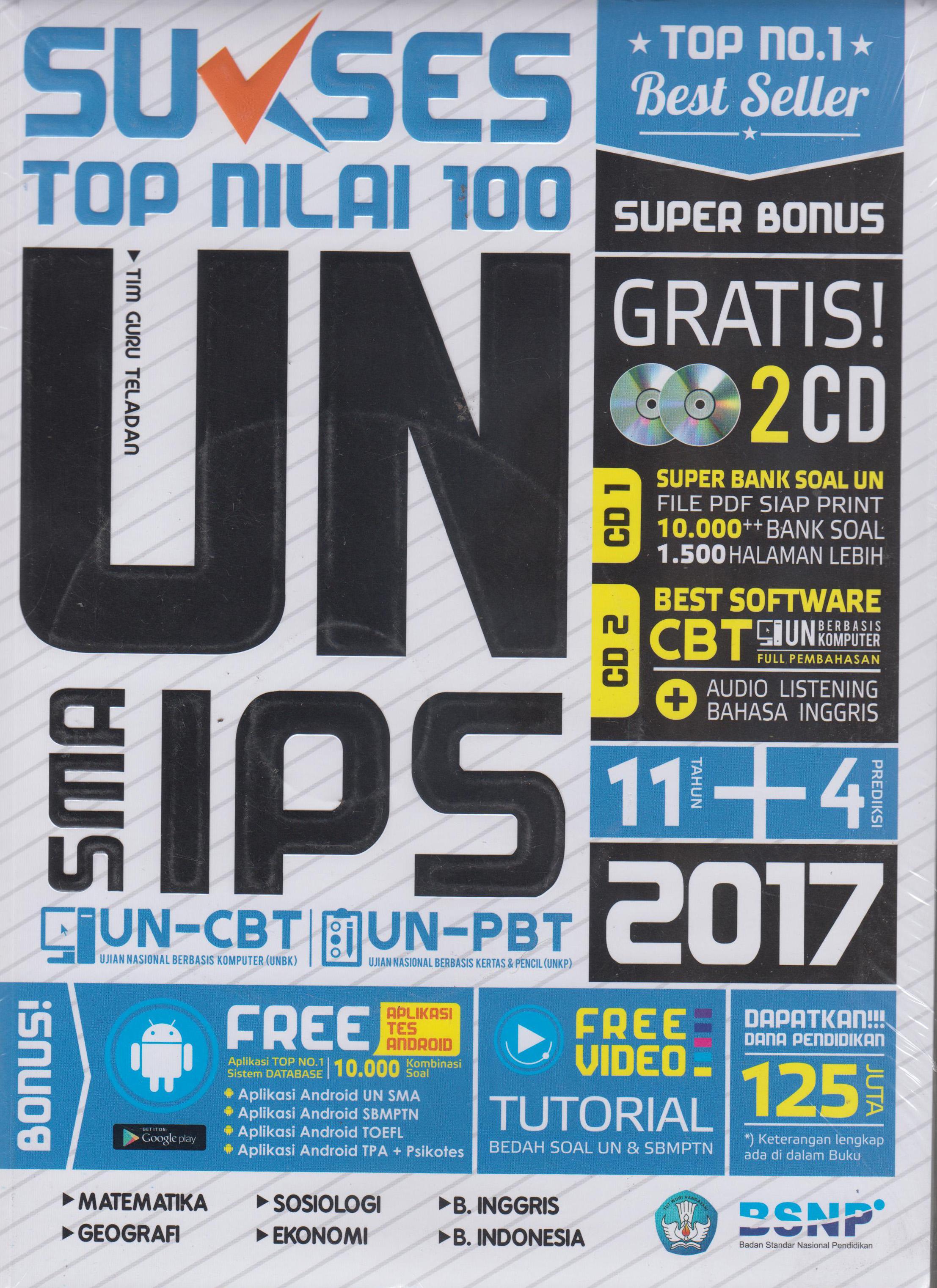 SUKSES TOP NILAI 100 UN SMA IPS 2017 en