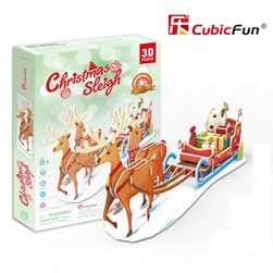 CUBICFUN CHRISTMAS SLEIGH P681Hen