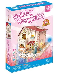 CUBICFUN HOLIDAY BUNGALOW DOLLHOUSE P634Hen