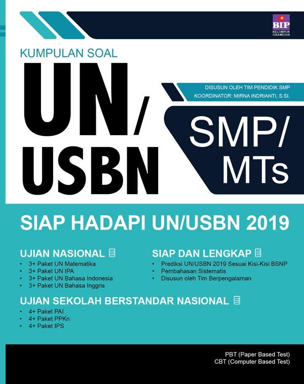 KUMPULAN SOAL UN/USBN SMP/MTS SIAP UN/USBN 2019en