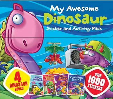 MY AWESOME DINOSAURS STICKER  AND ACTIVITY PACKen