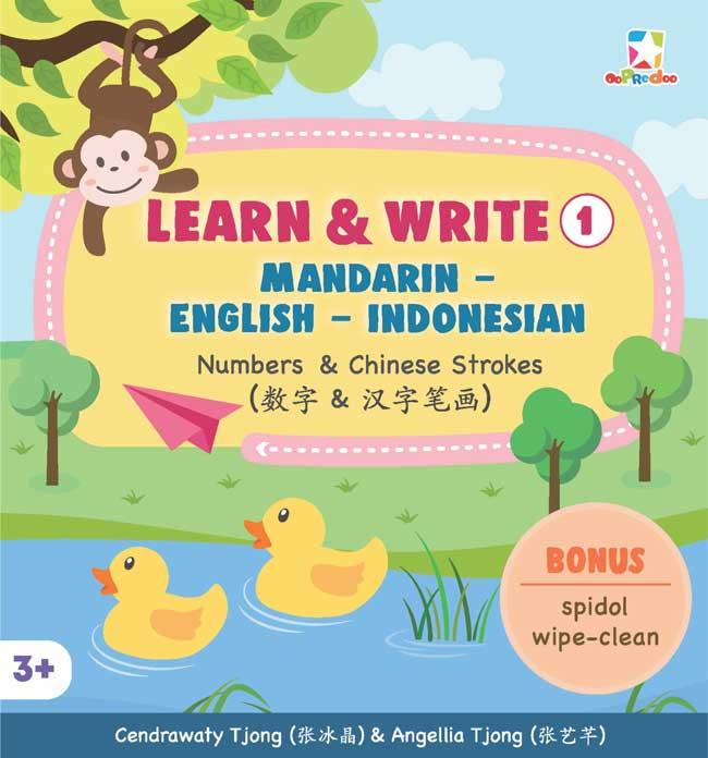 OPREDO LEARN  DAN  WRITE 1 MANDARIN - ENGLISH - INDONESIAN: NUMBERS  DAN  CHINESE STROKESen