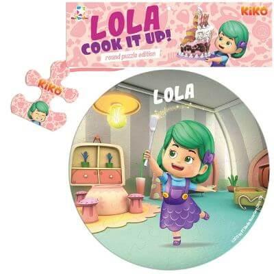 OPREDO ROUND PUZZLE KIKO: LOLA COOK IT UP!en