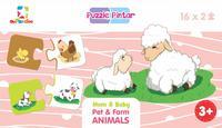 PUZZLE PINTAR: MOM  DAN  BABY PET  DAN  FARM ANIMALSen