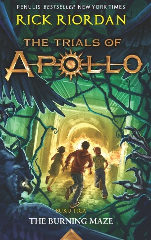 TRIALS OF APOLLO #3: THE BURNING MAZEen
